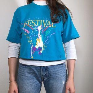 1991 kentucky derby cropped tee t-shirt